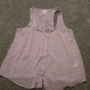 American eagle small blouse sheer material